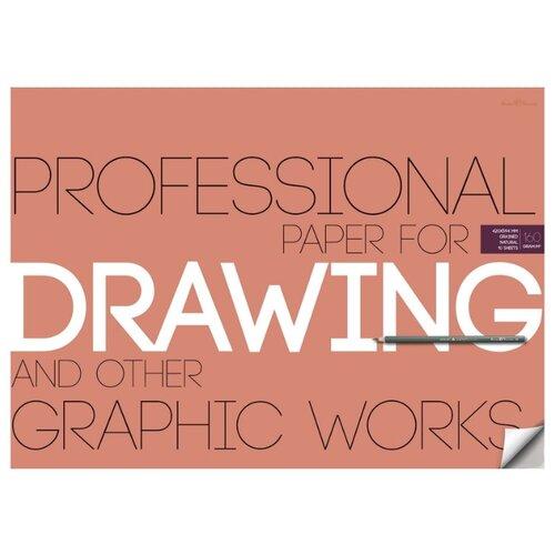 Бумага для рисунка и графики А2, 10л, блок 160гр, в папке 4-129