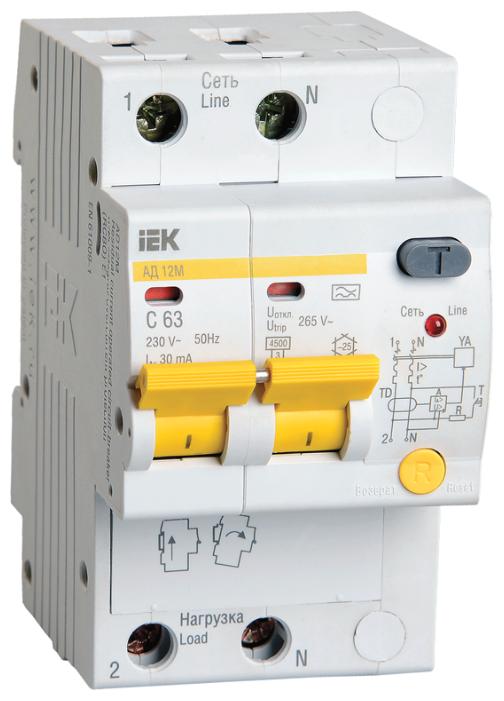 Дифференциальный автомат IEK АД12М 2П 30 мА B