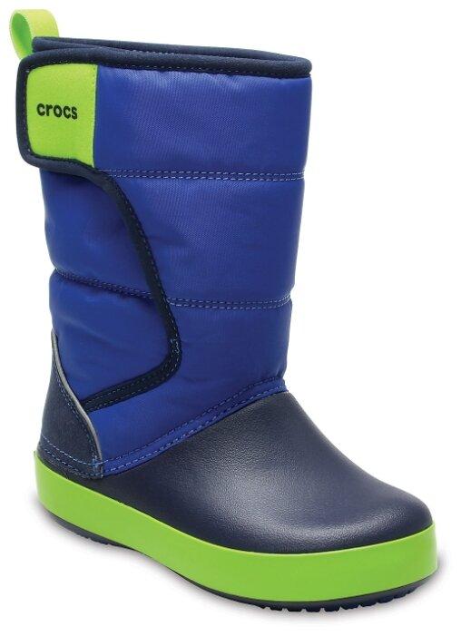 Сапоги CROCS Crocband LodgePoint Boot K 203509-4A5-C11 для мальчика, цвет синий, рус. размер 28