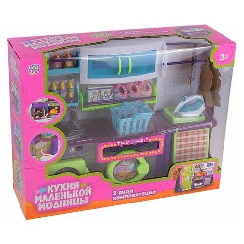 Купить Joy Toy набор мебели Кухня маленькой модницы (2133) фиолетовый/салатовый/белый, Мебель для кукол
