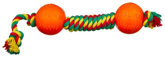 Гантель для собак Doglike Dental Knot канатная цветная средняя (D-2369Ц)