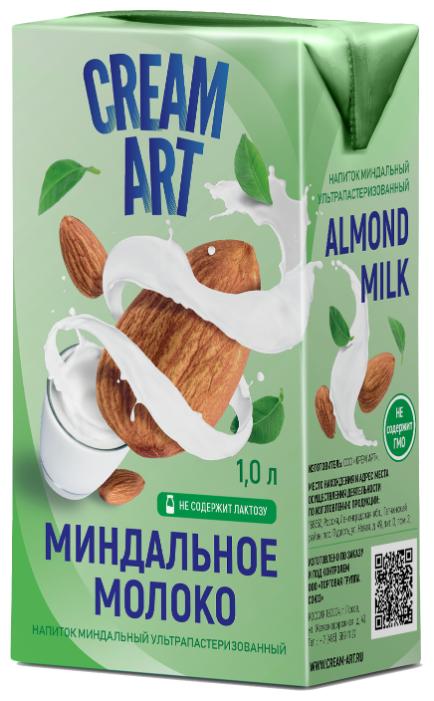 Миндальный напиток CREAMART Миндальное молоко 1.5%, 1 л