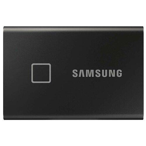 Фото - Внешний SSD Samsung Portable SSD T7 Touch 500 ГБ, черный внешний ssd hp p700 512gb 5ms29aa 512 гб черный