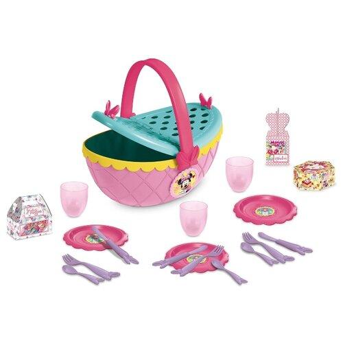 Фото - Набор посуды IMC Toys Disney Минни: Набор для пикника розовый/бирюзовый набор кофейной посуды disney принцесса аврора
