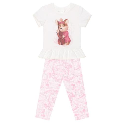 Пижама КОТОФЕЙ размер 116, белый/розовый босоножки котофей размер 29 золотой розовый
