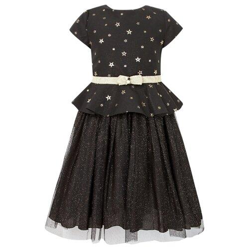 Платье Abel & Lula размер 122, черный/золотой
