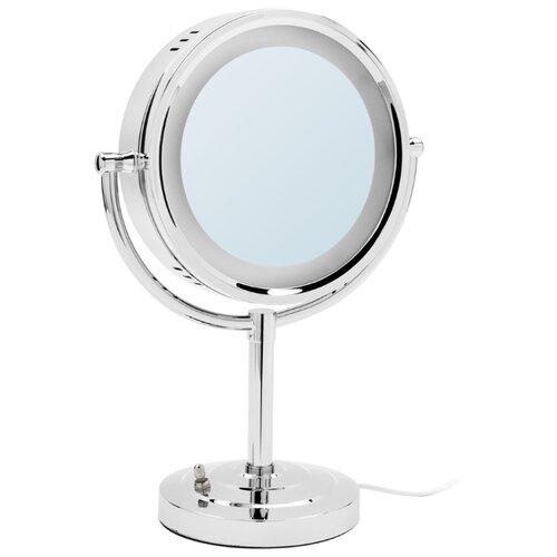Зеркало косметическое настольное Raiber RMM-1114 с подсветкой хром косметическое зеркало raiber rmm 1114 с увеличением и подсветкой хром