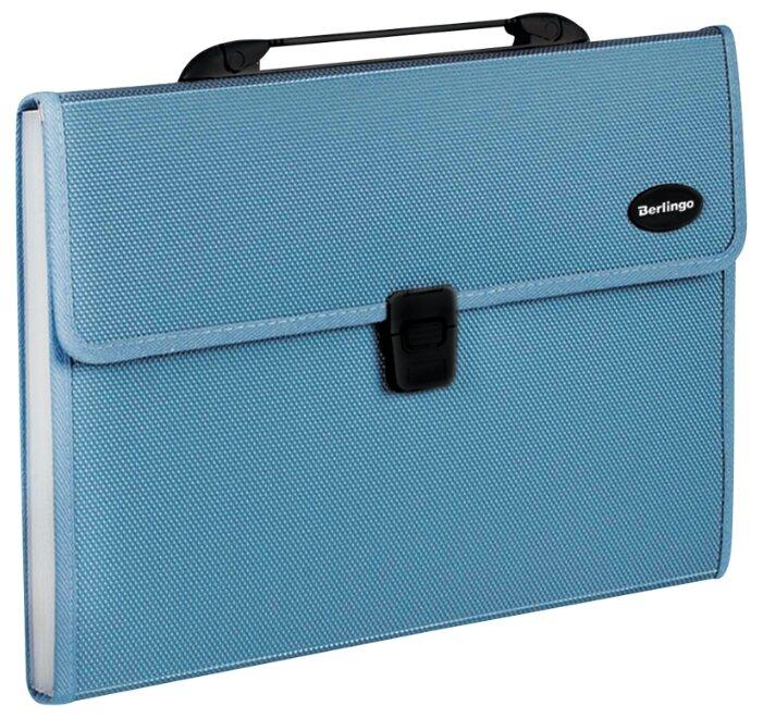 Купить Berlingo Папка-портфель с 13 отделениями Standard A4, пластик, 1000 мкм синий по низкой цене с доставкой из Яндекс.Маркета