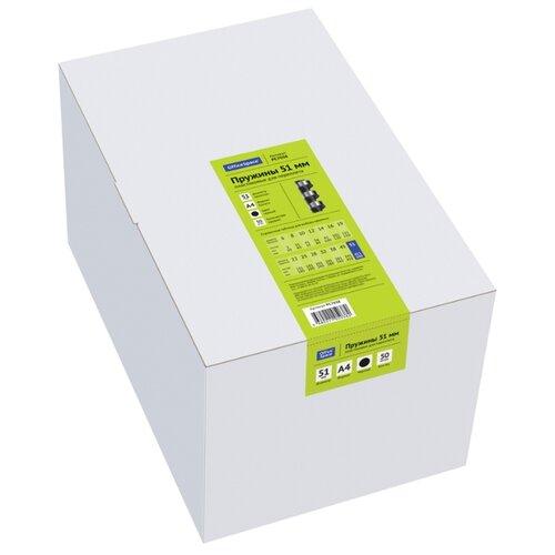 Фото - Пружина OfficeSpace пластиковые 51 мм черный 50 шт. пружина officespace пластиковые 6 мм черный 100 шт