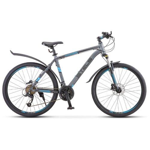 Фото - Горный (MTB) велосипед STELS Navigator 640 D 26 V010 (2019) серый/синий 17 (требует финальной сборки) горный mtb велосипед stels miss 5000 md 26 v010 2019 бирюзовый 17 требует финальной сборки