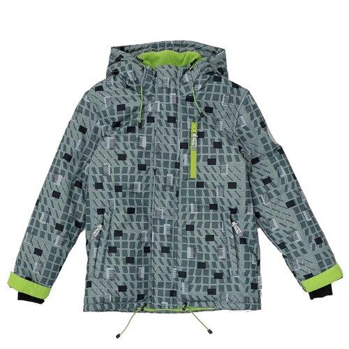 Купить Куртка Button Blue Active 220BBBA41012013 размер 128, серый, Куртки и пуховики