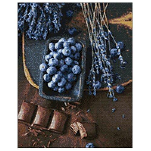 Купить Гранни Набор алмазной вышивки Шоколад и голубика (Ag 896) 38х48 см, Алмазная вышивка