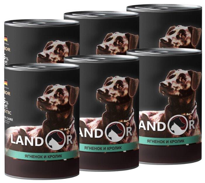Корм для собак Landor Senior Dogs Lamb and Rabbit для пожилых собак (банка)