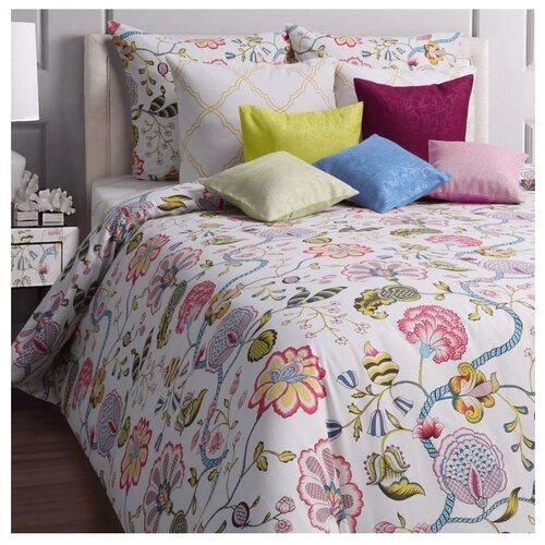 Фото - Постельное белье евростандарт Mona Liza Country, бязь, 70 х 70 см белый/розовый mona
