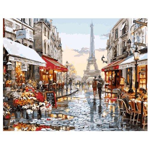 ВанГогВоМне Картина по номерам Прогулка по Парижу, 40х50 см (ZX 20184) картина по номерам вангогвомне рыцарский замок