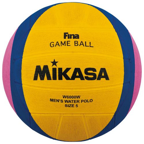 Мяч для водного поло Mikasa W6000W желтый/синий/розовый