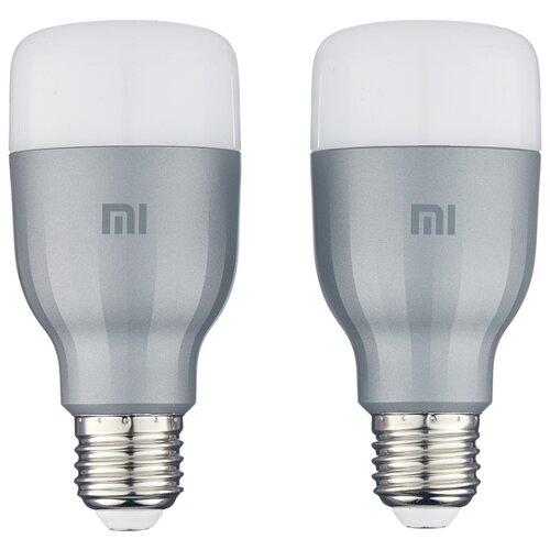 Фото - Упаковка светодиодных ламп 2 шт Xiaomi Mi LED Smart Bulb 2-Pack MJDP02YL, E27, 10Вт лампочка xiaomi mi led smart bulb 2 pack mjdp02yl e27 10вт