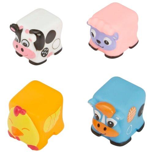 Купить Набор для ванной Alex Веселая ферма (200050) белый/оранжевый/розовый/голубой, Игрушки для ванной