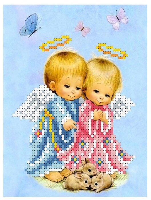 Канва для вышивания с рисунком Каролинка Любимые зверушки КБА-5015 15 х 21 см