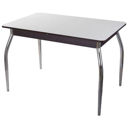 Стол кухонный Домотека Танго ПР-1 01, раскладной, ДхШ: 120 х 80 см, длина в разложенном виде: 157 см, ВН ст-БЛ венге/белый 01 хром по цене 16 440