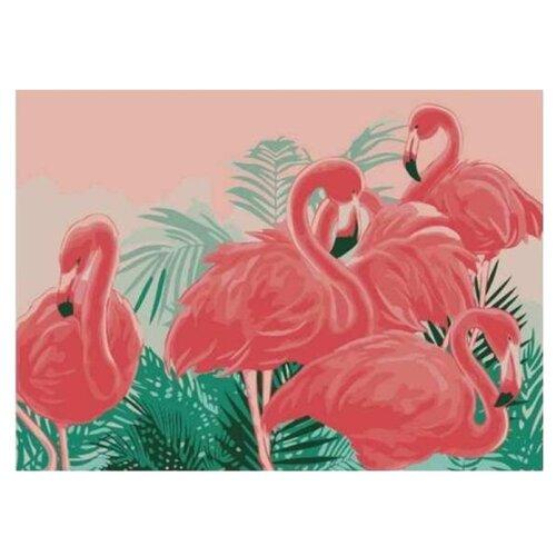 Рыжий кот Картина по номерам Яркие Фламинго 22х30 см (HS159) картина по номерам рыжий кот 22х30 см по номерам живописное место hs146