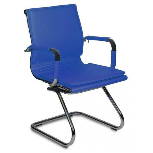 Стул Бюрократ CH-993-LOW-V, металл/искусственная кожа, цвет: синий офисный стул бюрократ t 8010 low v