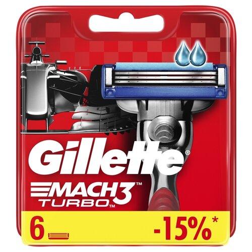 Сменные кассеты Gillette Mach3 Turbo, 6 шт. gillette mach3 set i