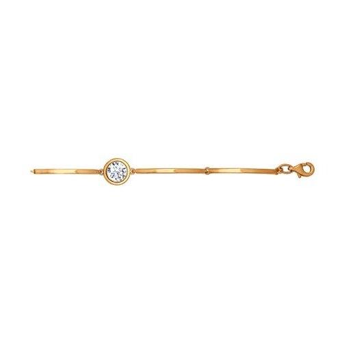 SOKOLOV Браслет из золочёного серебра с фианитом 93050045, 18 см, 4.83 г