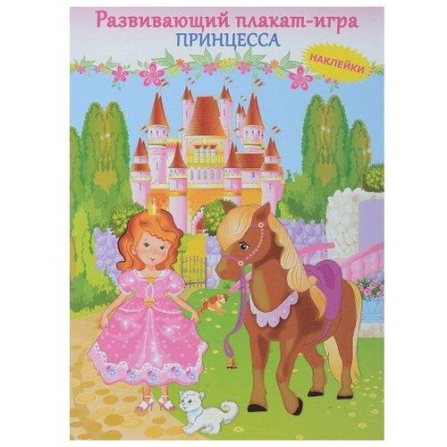 Купить Плакат Искатель Принцесса розовый, Обучающие плакаты