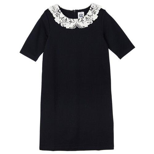 Купить Платье playToday размер 146, темно-синий/белый, Платья и сарафаны