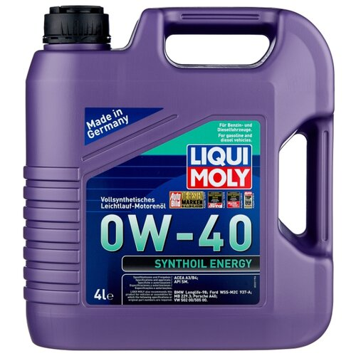 Моторное масло LIQUI MOLY Synthoil Energy 0W-40 4 л