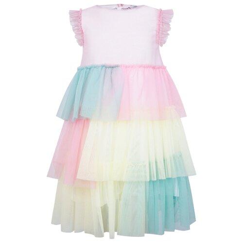 Платье Il Gufo размер 104, разноцветный/розовый