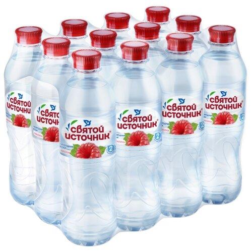 Питьевая вода Святой Источник Малина негазированная, ПЭТ, 12 шт. по 0.5 л