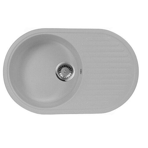 Врезная кухонная мойка 73 см А-Гранит M-18 серый врезная кухонная мойка 73 см а гранит m 18 m 18 315 розовый