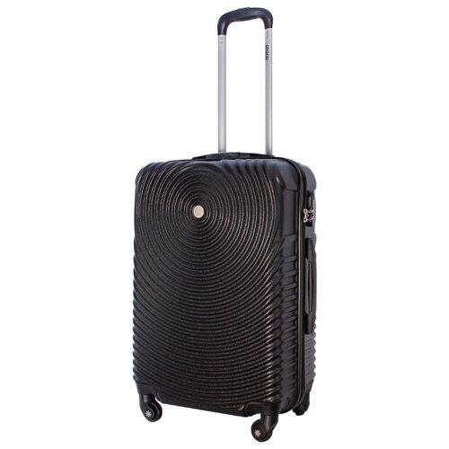 Чемодан PROFFI Tour Space M 60 л, черный чемодан proffi business lady m 63 л розовый