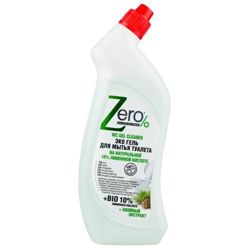 Zero% Эко Гель для туалета Лимонная кислота и Хвойный экстракт 0.75 л гель для туалета