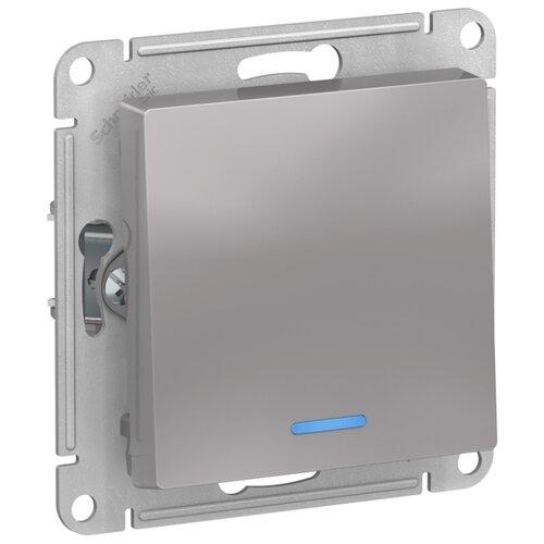 Выключатель 1-полюсный Schneider Electric ATN000313 AtlasDesign, 10 А, алюминиевый выключатель 1 полюсный schneider electric atn000211 atlasdesign 10 а бежевый
