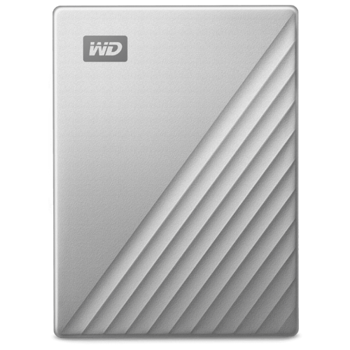 Внешний HDD Western Digital My Passport for Mac 4 ТБ серебристый внешний hdd western digital wd elements portable 4 тб черный