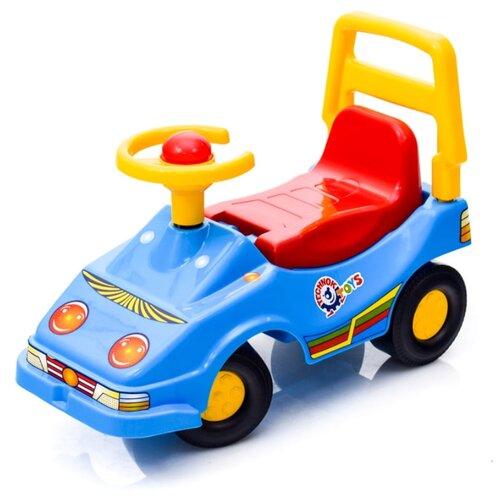 Фото - Каталка-толокар ТехноК Автомобиль для прогулок Эко (1196) со звуковыми эффектами синий каталки технок автомобиль для прогулок т6665