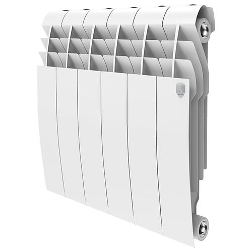 Радиатор секционный биметаллический Royal Thermo Biliner 350 x12 теплоотдача 1380 Вт, подключение универсальное боковое Bianco Traffico биметаллический радиатор rifar рифар b 500 нп 10 сек лев кол во секций 10 мощность вт 2040 подключение левое