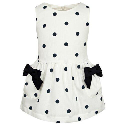 Платье Lapin House размер 80, кремовый/горошек