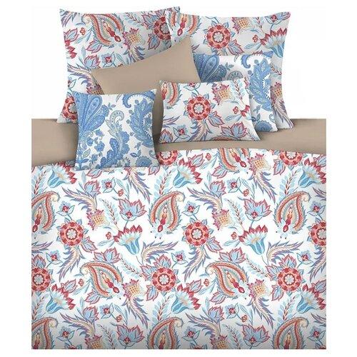 цена Постельное белье 2-спальное Mona Liza Aziza 50х70 см, сатин белый/голубой/розовый онлайн в 2017 году