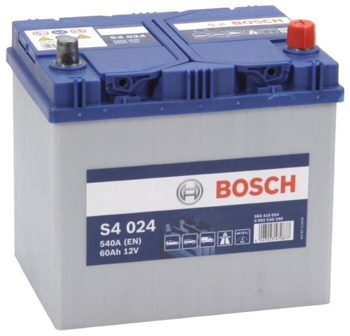 Автомобильный аккумулятор BOSCH S4 024 (60R) 540А обратная полярность 60 Ач (232x173x225)