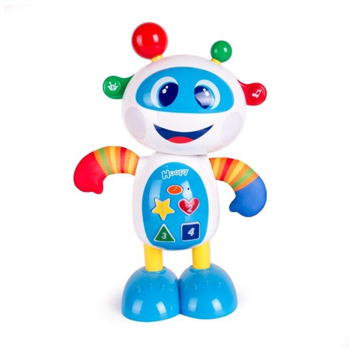 Купить Развивающая игрушка Happy Snail Робот Hoopy белый/голубой по низкой цене с доставкой из Яндекс.Маркета (бывший Беру)