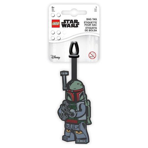 Бирка для багажа LEGO Star Wars Boba Fett, зеленый/красный/серый lego бирка для багажа lego star wars movie 2 дупло