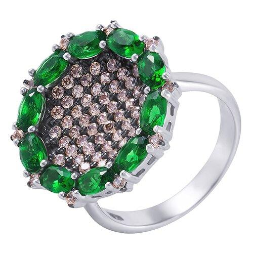 ELEMENT47 Кольцо из серебра 925 пробы с кубическим цирконием SA0142-R_KO_001_WG, размер 17.5