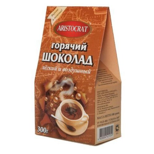 Aristocrat Легкий и Воздушный Горячий шоколад, коробка, 300 г