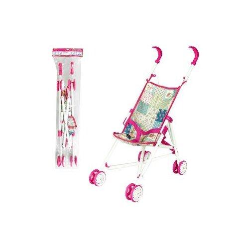 Прогулочная коляска Наша игрушка Пэчворк M7489-1 розовый/бежевый игрушка