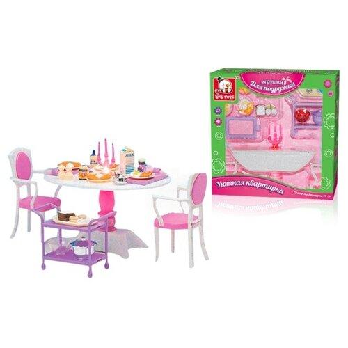 цена S+S Toys Столовая Уютная квартирка (100328698) розовый/белый/фиолетовый онлайн в 2017 году