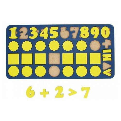 Рамка-вкладыш TAU TOY Арифметика Фигуры (6101293), 36 дет.